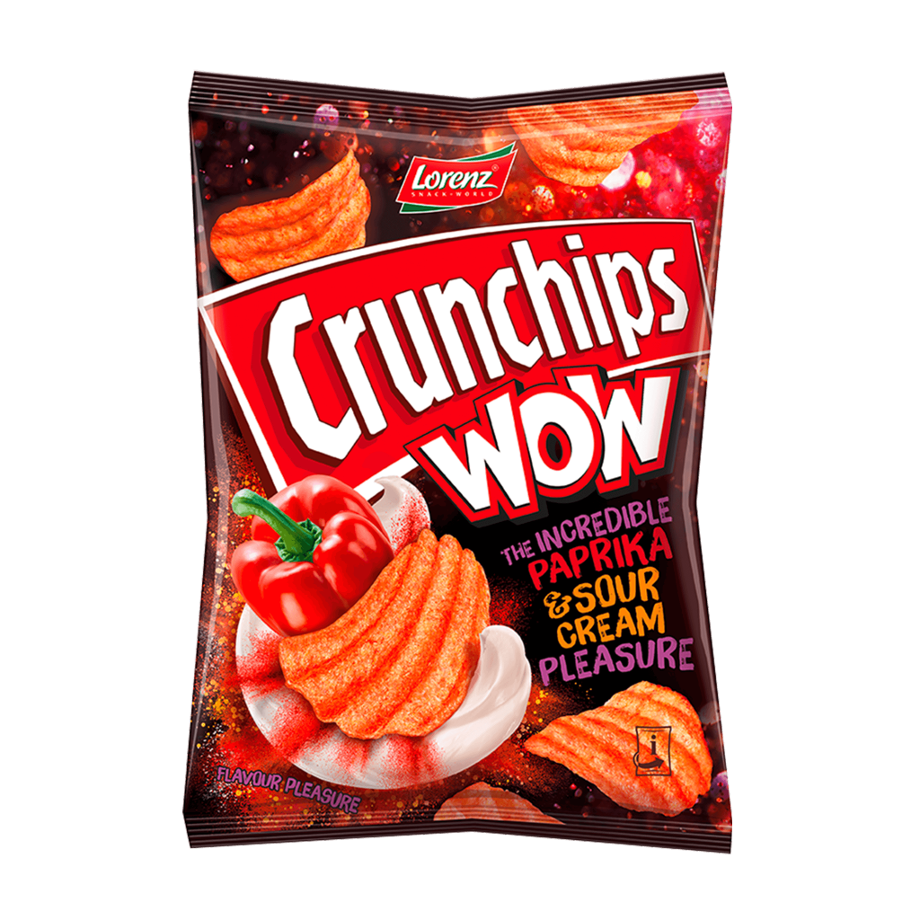 Crunchips WOW The Incredible Paprika and Sour Cream Pleasure