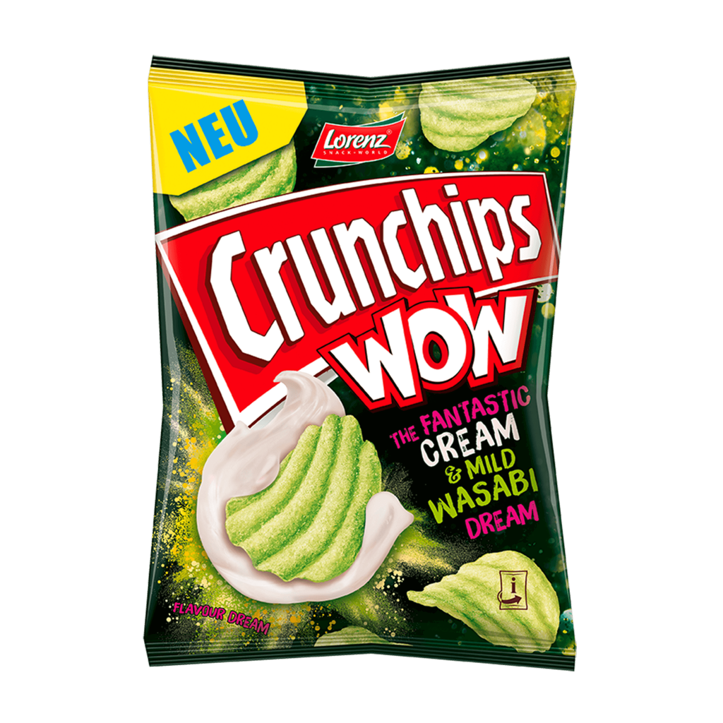 Crunchips WOW The Fantastic Cream and Mild Wasabi Dream