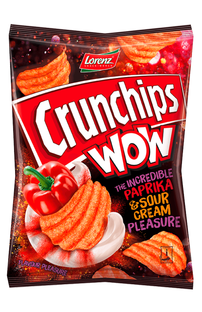 Crunchips WOW The Incredible Paprika & Sour Cream Pleasure